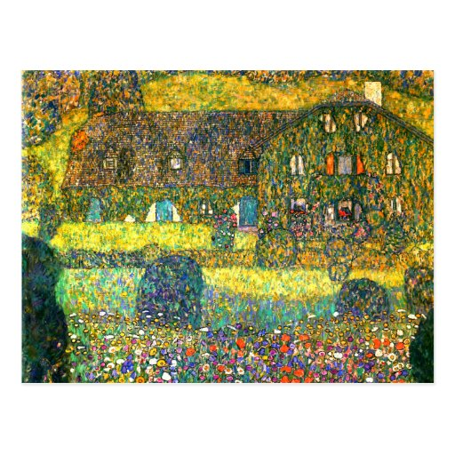 Gustav Klimt: Country House at the Attersee Postcards
