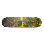 Gustav Klimt: Country House at the Attersee Skateboard Deck