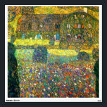"""Gustav Klimt: Country House at the Attersee Wall Sticker<br><div class=""""desc"""">A beautiful classic wall decal featuring a country house at the Attersee surrounded by colorful flowers,  painted by the Austrian symbolist painter Gustav Klimt.</div>"""