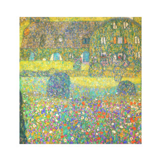 Gustav Klimt Country House by the Attersee Canvas Print