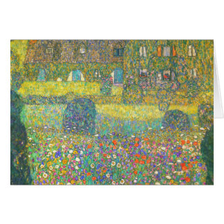 Gustav Klimt Country House by the Attersee Card
