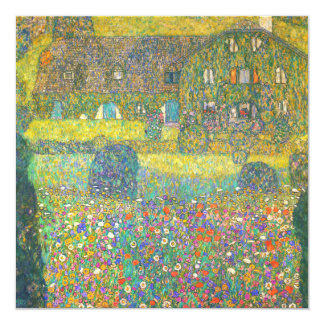 Gustav Klimt Country House by the Attersee Invitation