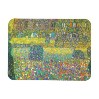 Gustav Klimt Country House by the Attersee Magnet