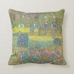 Gustav Klimt Country House by the Attersee Throw Pillows