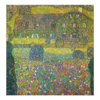 Gustav Klimt Country House by the Attersee Poster