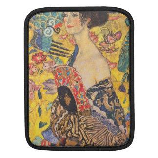 Gustav Klimt, Dame mit Fächer Laptop Sleeve Sleeve For iPads