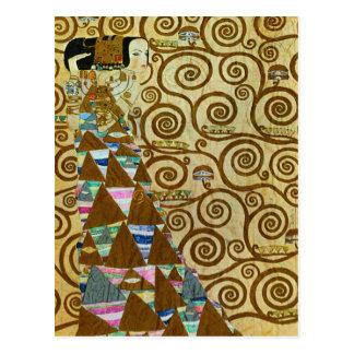 Gustav Klimt Expectation Postcard