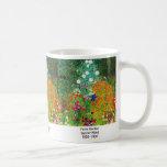 "Gustav Klimt, ""Farm Garden"" Coffee Mug"