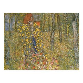 Gustav Klimt- Farm Garden with Crucifix Post Card
