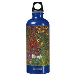 Gustav Klimt Farm Garden with Sunflowers Aluminum Water Bottle