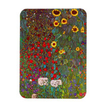 Gustav Klimt Farm Garden with Sunflowers Magnet