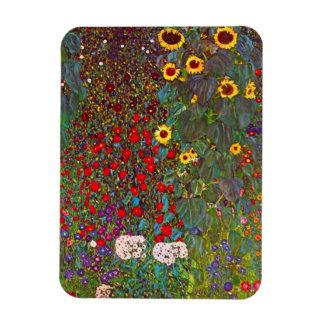Gustav Klimt Farm Garden with Sunflowers Magnet