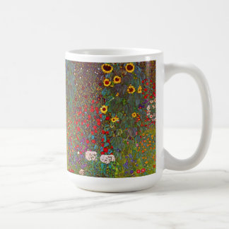 Gustav Klimt Farm Garden with Sunflowers Mug