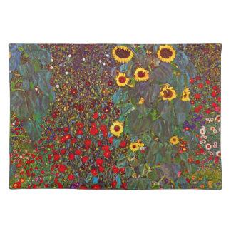 Gustav Klimt Farm Garden with Sunflowers Placemat