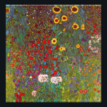 "Gustav Klimt Farm Garden with Sunflowers Print<br><div class=""desc"">Gustav Klimt Farm Garden with Sunflowers print. Oil painting on canvas from 1905-06. Though Klimt is most recognized for his gold period that produced classic works like The Kiss and Portrait of Adele Bloch Bauer, the artist also produced some tremendously charming landscape paintings. Garden Farm with Sunflowers features a rich...</div>"