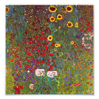 Gustav Klimt Farm Garden with Sunflowers Print