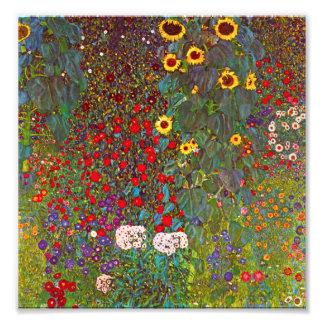 Gustav Klimt Farm Garden with Sunflowers Print
