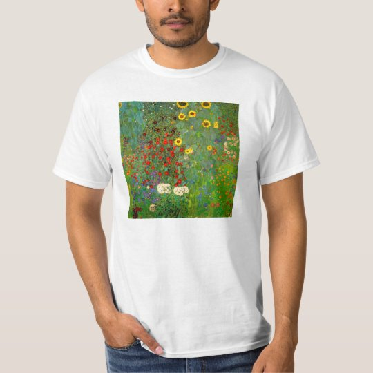 Gustav Klimt Farm Garden with Sunflowers T-Shirt