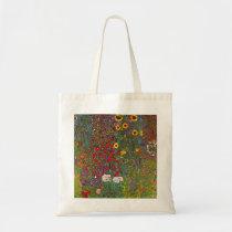 Gustav Klimt Farm Garden with Sunflowers Tote Bag