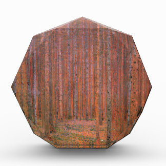 Gustav Klimt Fir Forest Tannenwald Red Trees Acrylic Award