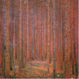 Gustav Klimt Fir Forest Tannenwald Red Trees Standing Photo Sculpture
