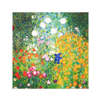 Gustav Klimt Flower Garden Canvas Poster