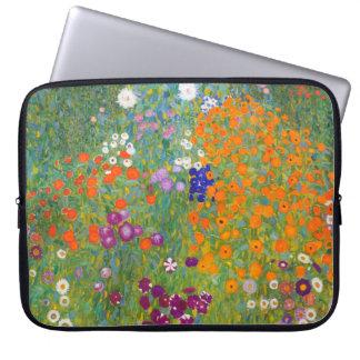 Gustav Klimt: Flower Garden Computer Sleeve
