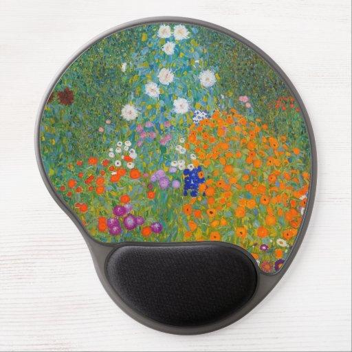 Gustav Klimt - Flower Garden Gel Mouse Pad