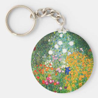 Gustav Klimt Flower Garden Key Chain