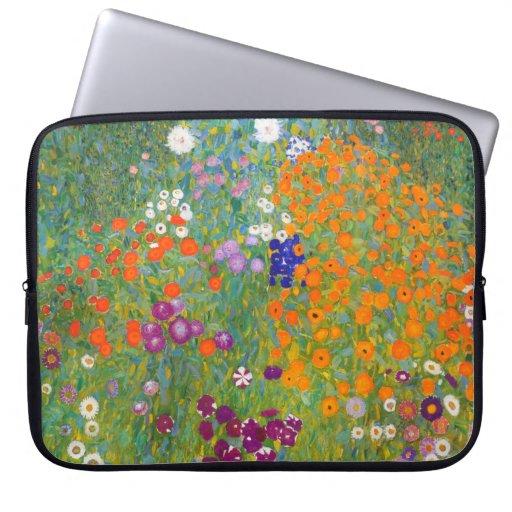 Gustav Klimt: Flower Garden Laptop Computer Sleeves