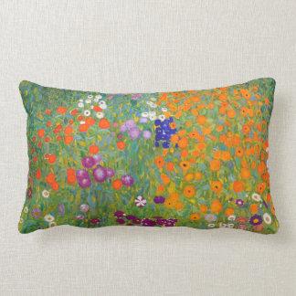 Gustav Klimt: Flower Garden Lumbar Pillow