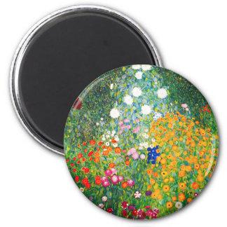 Gustav Klimt Flower Garden Magnet