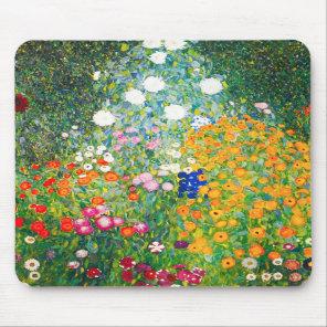 Gustav Klimt Flower Garden Mouse Pad
