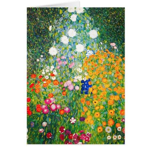Gustav Klimt Flower Garden Note Card