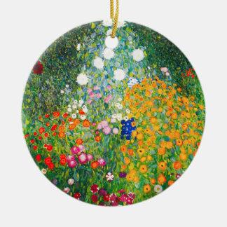 Gustav Klimt Flower Garden Ornament