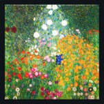 "Gustav Klimt Flower Garden Print<br><div class=""desc"">Gustav Klimt Flower Garden print. Oil painting on canvas from 1907. Completed during his golden phase, Flower Garden is one of Klimt's most famous landscape paintings. The summer colors burst forth in this work with a beautiful mix of orange, red, purple, blue, pink and white blossoms. A great gift for...</div>"