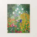 "Gustav Klimt Flower Garden Puzzle<br><div class=""desc"">Gustav Klimt Flower Garden puzzle. Oil painting on canvas from 1907. Completed during his golden phase, Flower Garden is one of Klimt's most famous landscape paintings. The summer colors burst forth in this work with a beautiful mix of orange, red, purple, blue, pink and white blossoms. A great gift for...</div>"