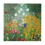Gustav Klimt Flower Garden Tile
