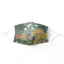 Gustav Klimt Flower Garden Vintage Art Nouveau Adult Cloth Face Mask