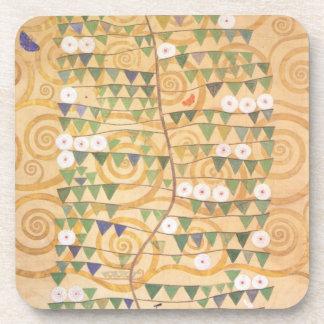 Gustav Klimt Frieze Tree of Life Coasters