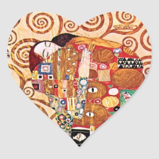 Gustav Klimt - Fulfillment Heart Sticker