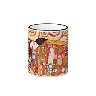 Gustav Klimt - Fulfillment Ringer Coffee Mug