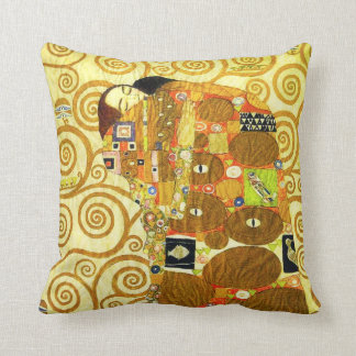 Gustav Klimt Fulfillment Pillow