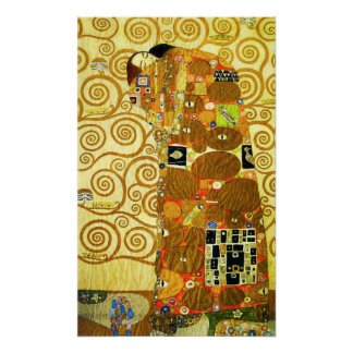 Gustav Klimt Fulfillment Poster