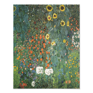 """Gustav Klimt """"Garden with Sunflowers"""" 1907 Art Dec Photo Print"""