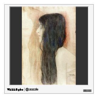 Gustav Klimt- Girl with Long Hair Room Decal