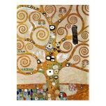 Gustav Klimt Golden Tree of Life with Bird Postcard