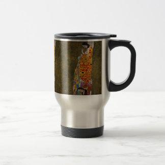 "Gustav Klimt, ""Hope II"" Travel Mug"