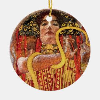 Gustav Klimt - Hygieia Medicine Goddess of Health Ceramic Ornament