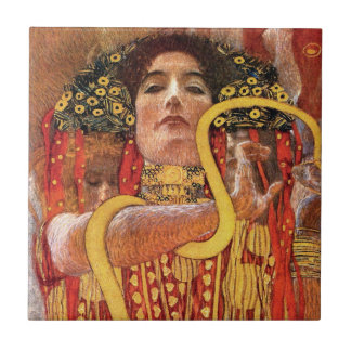 Gustav Klimt - Hygieia Medicine Goddess of Health Tile